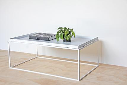 Coffee Table A Folded Steel Tray Top Welded To The 12mm Square Frame All Powder Coated White